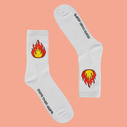Flame cotton socks