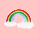 Rainbow embroidered patch iron-on