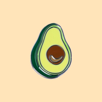 Avocado metal pin