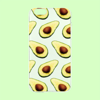 Avocado iPhone softcase transparent