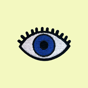 Eye embroidered patch iron-on