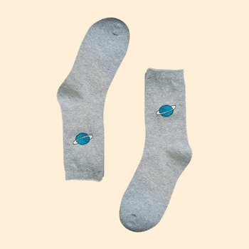 Blue planet grey cotton socks