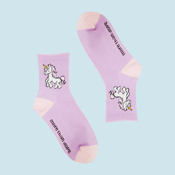 Unicorn cotton socks pink