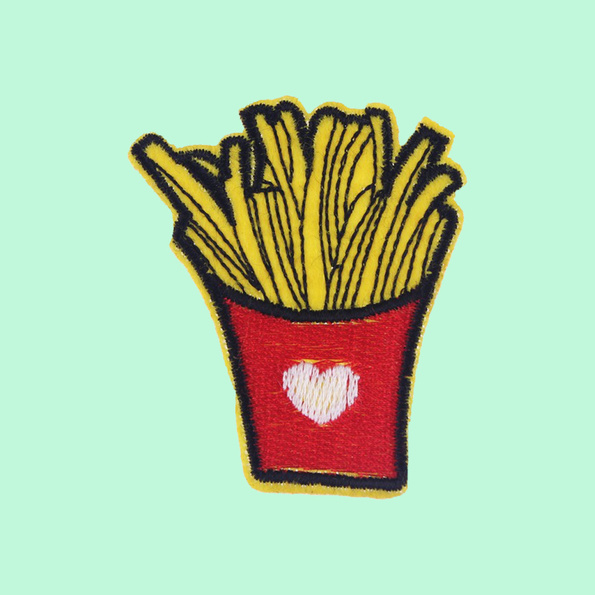 Fries embroidered patch iron-on
