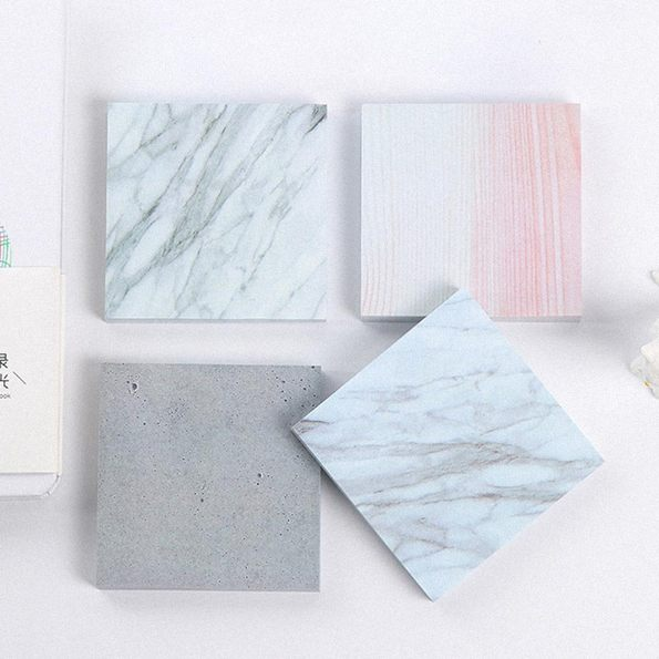 Raw Texture Memo Book on Table