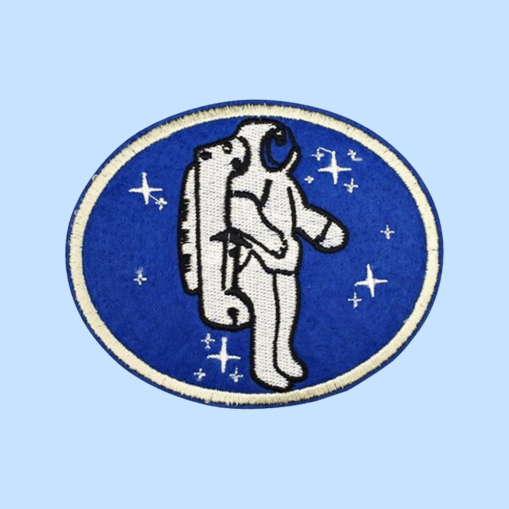 Astronaut embroidered patch iron-on