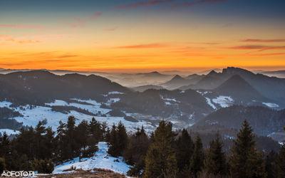 Sunset - Pieniny