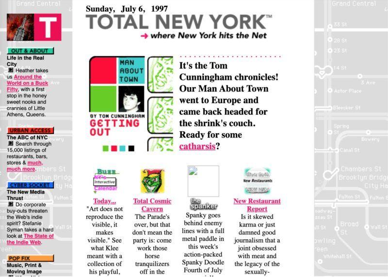 A screenshot of the TotalNY.com homepage