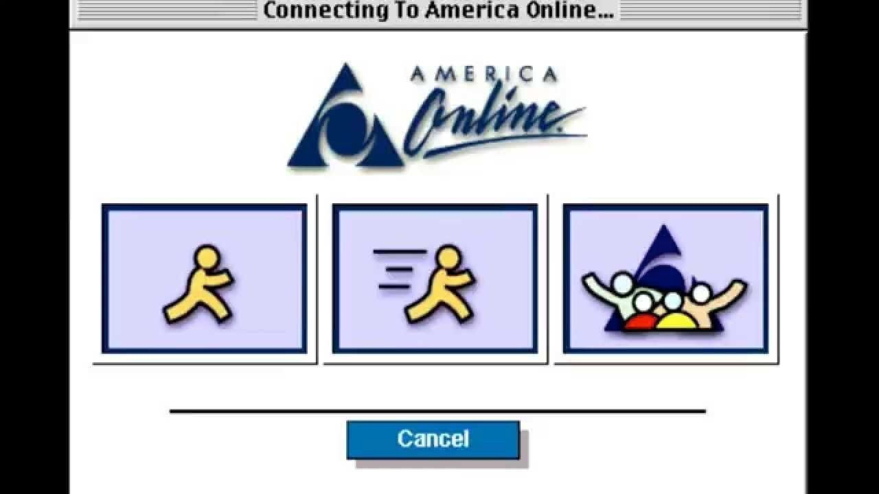 The infamous AOL loading screen