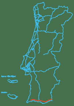 Mapa Euroscut Algarve