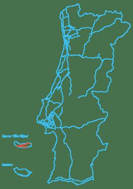 Mapa Euroscut Açores