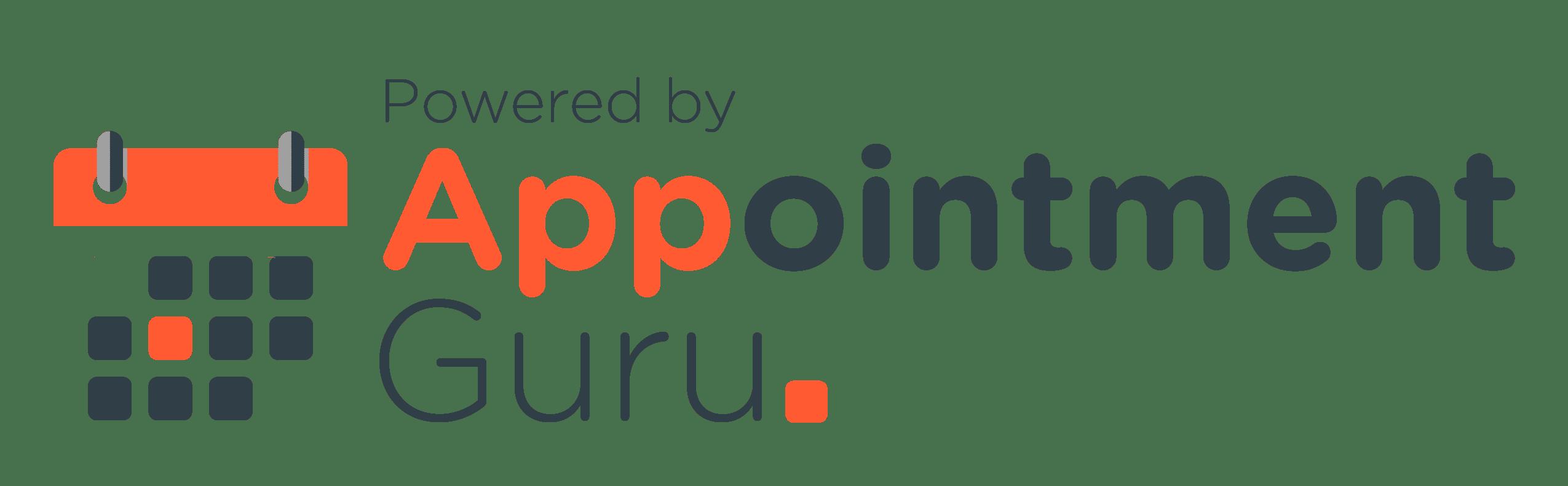 AppointmentGuru logo - powered by AppointmentGuru