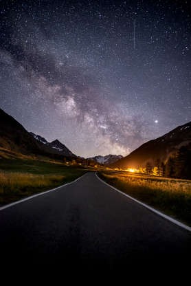 Milky way in Val Ferret