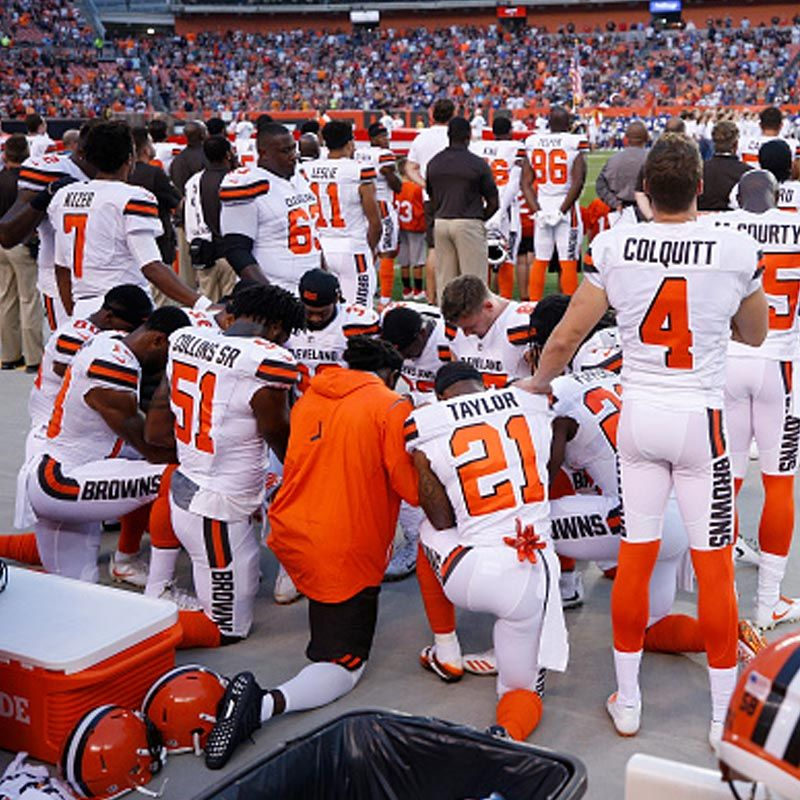 Browns Praying Raises Questions All Christians Should Consider