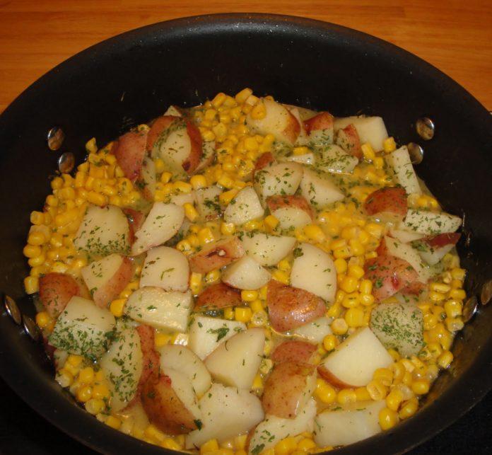 Sweet Corn And Potato Saute 1
