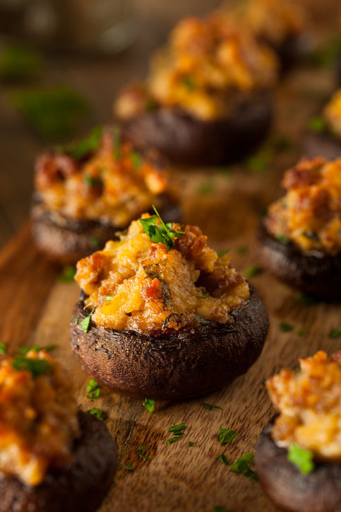 Homemade Sausage Stuffed Mushrooms