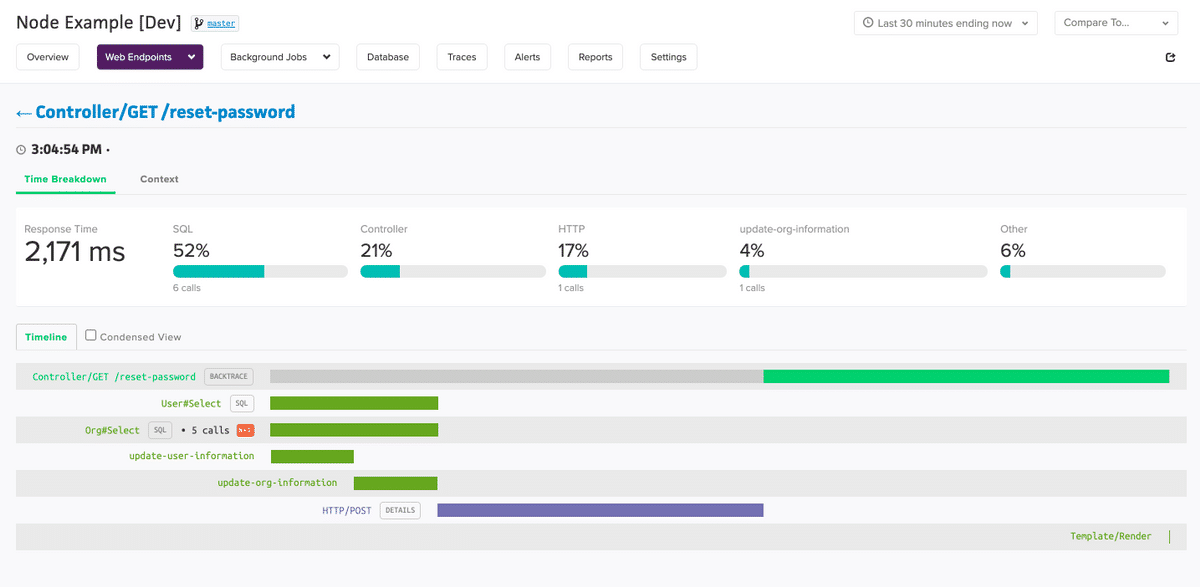 Endpoint Tracker Page
