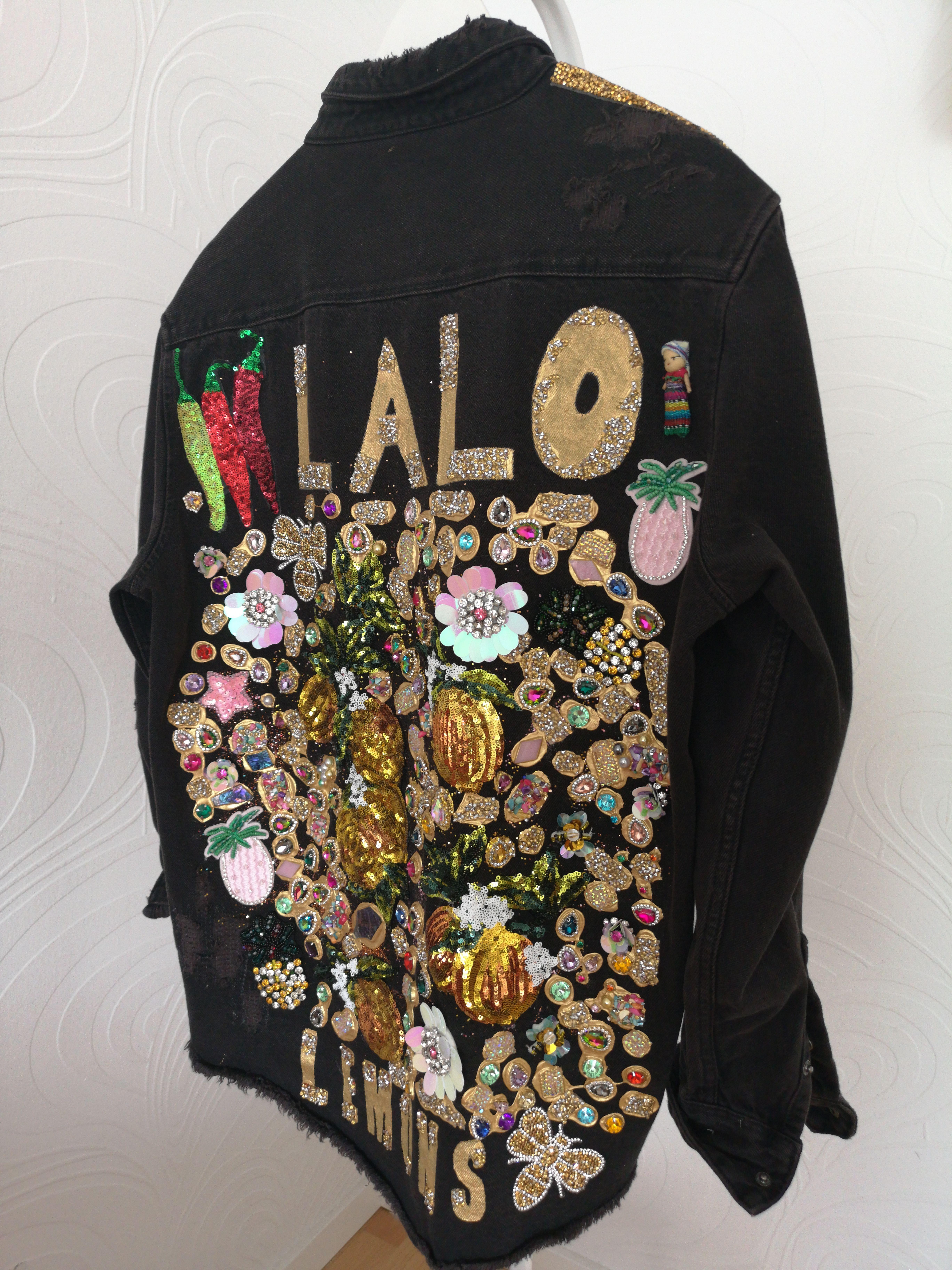 Look by Singer Lalo Ebratt Embellished Denim Jacket