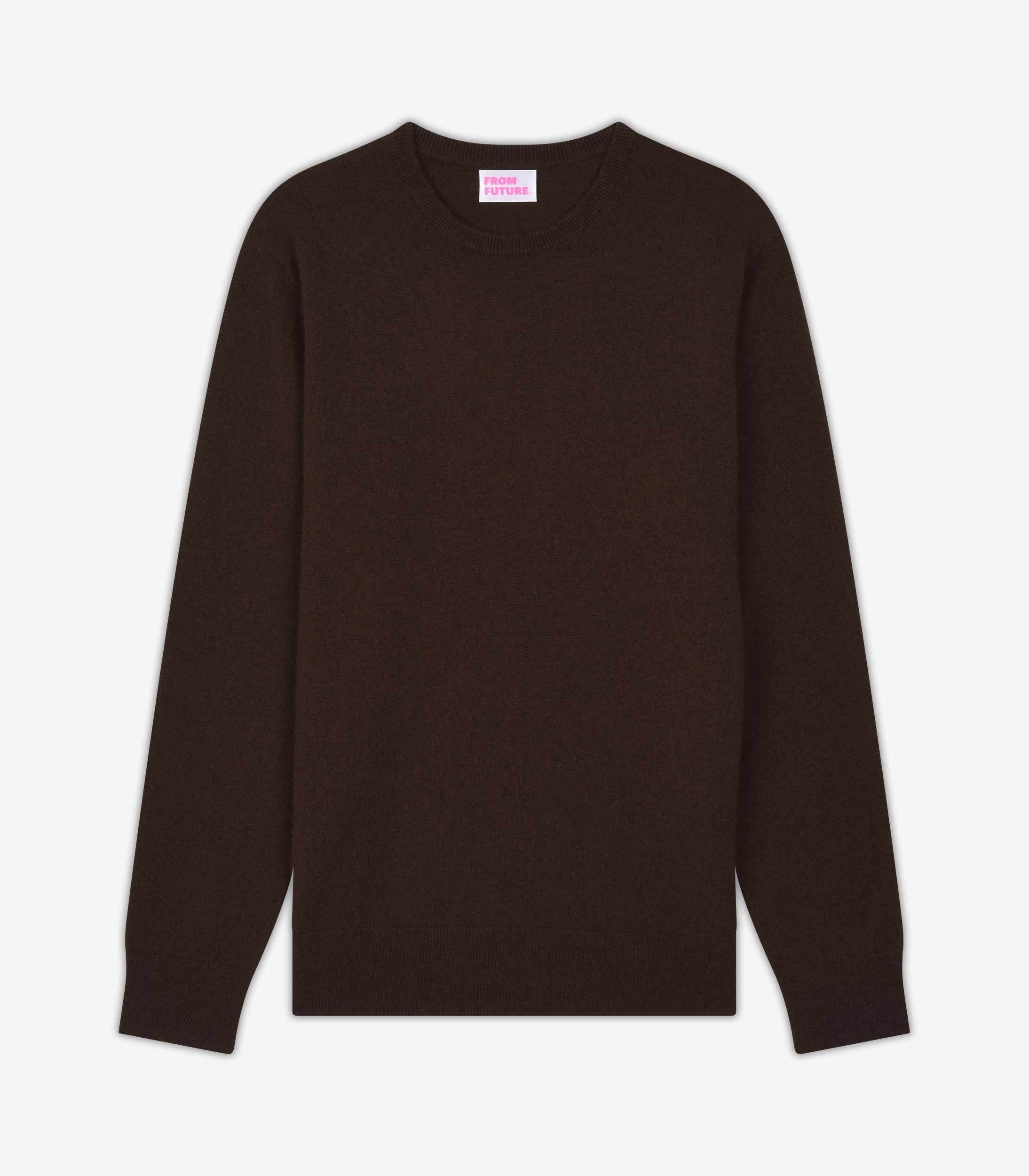 col rond baby cashmere w hommes chocolat