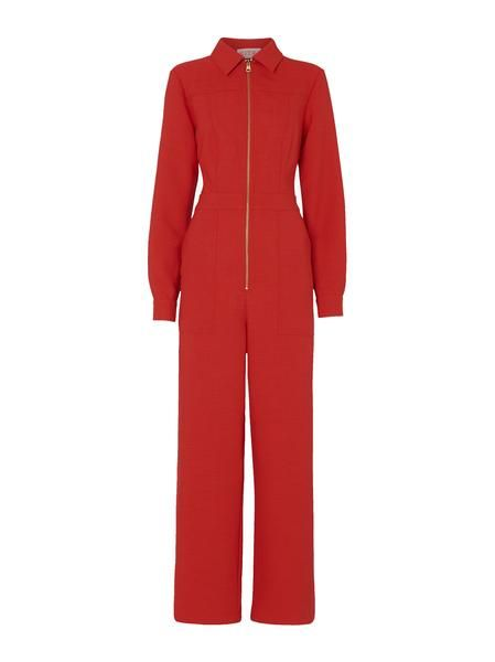 monica red tailored jumpsuit womens tailored jumpsuits kitri
