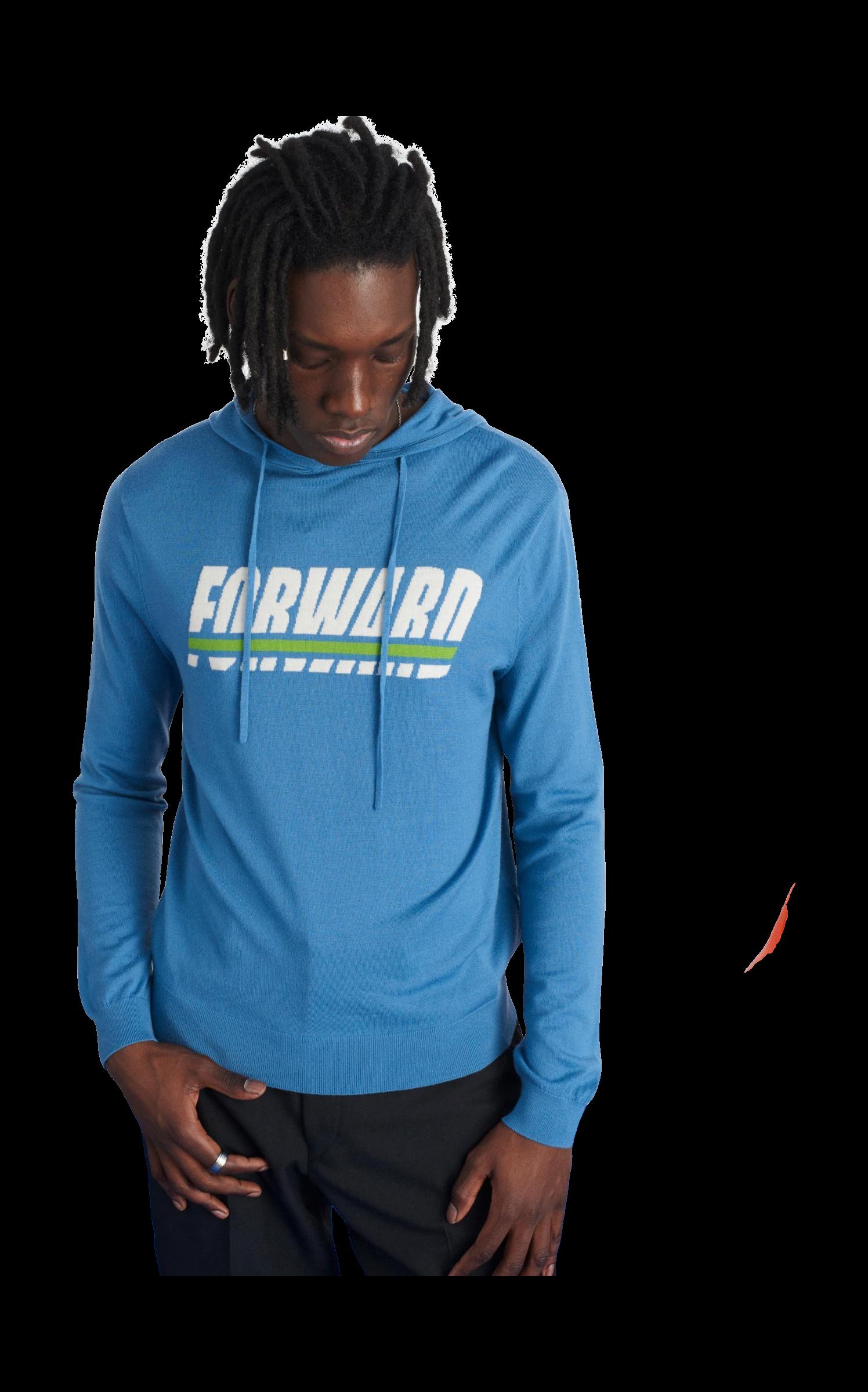 hoodie forward superfine s hommes pastel blue