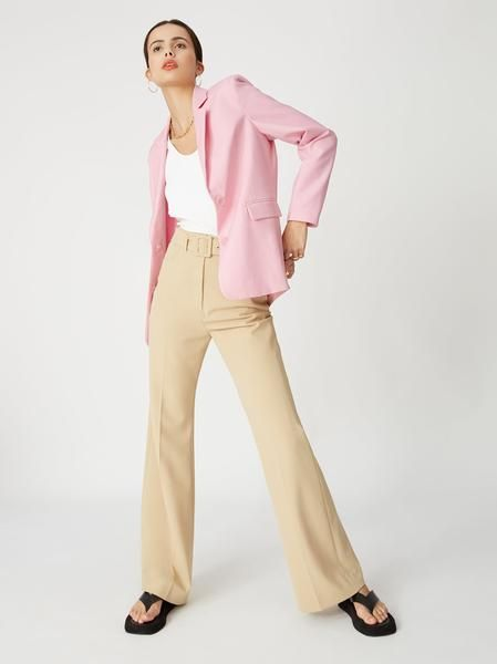 laurie pink oversized tailored blazer womens oversized blazers kitri