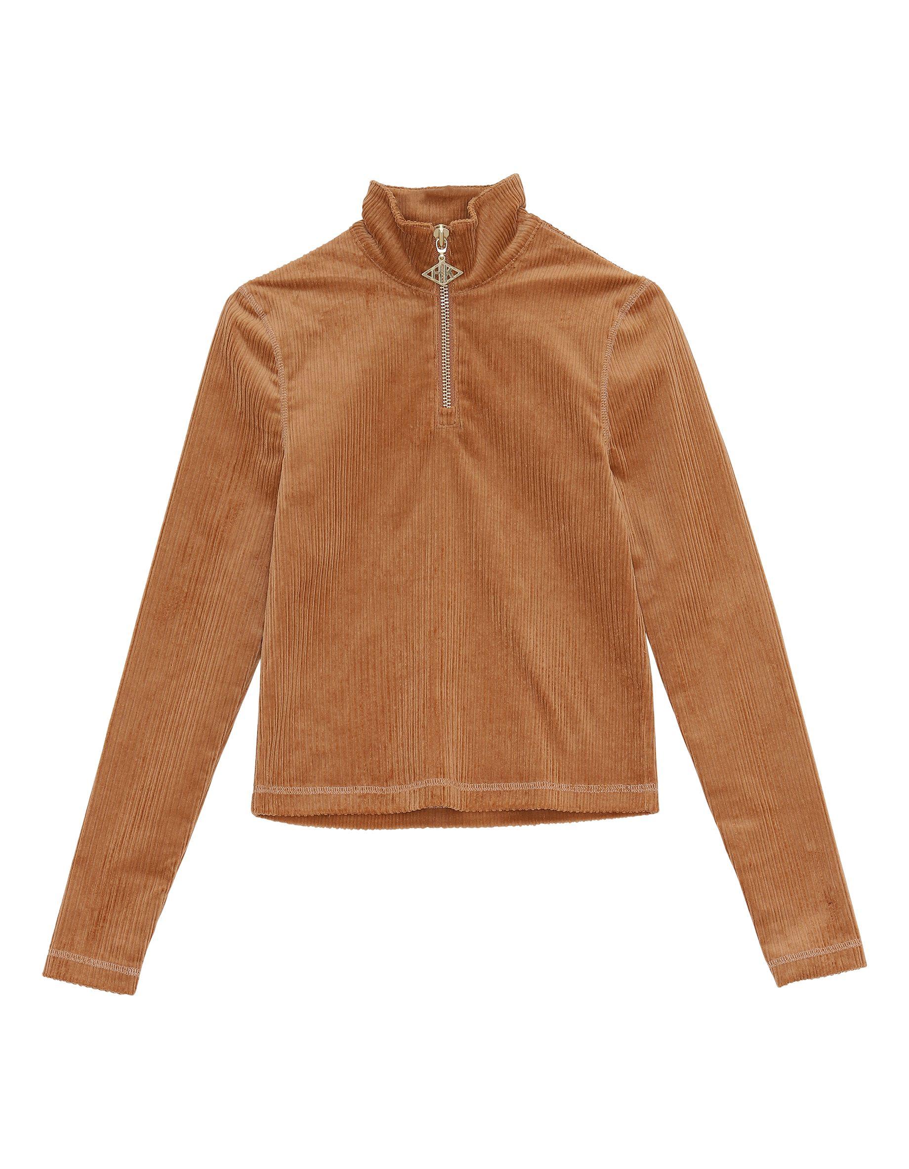 half zip long sleeve jersey corduroy