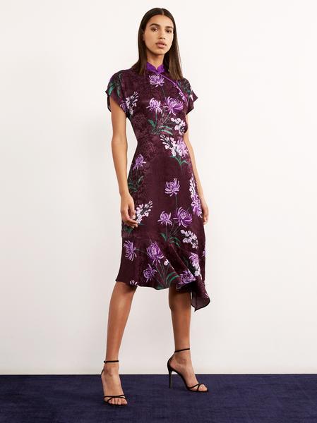 valerie purple vintage asymmetric dress womens vintage dresses kitri