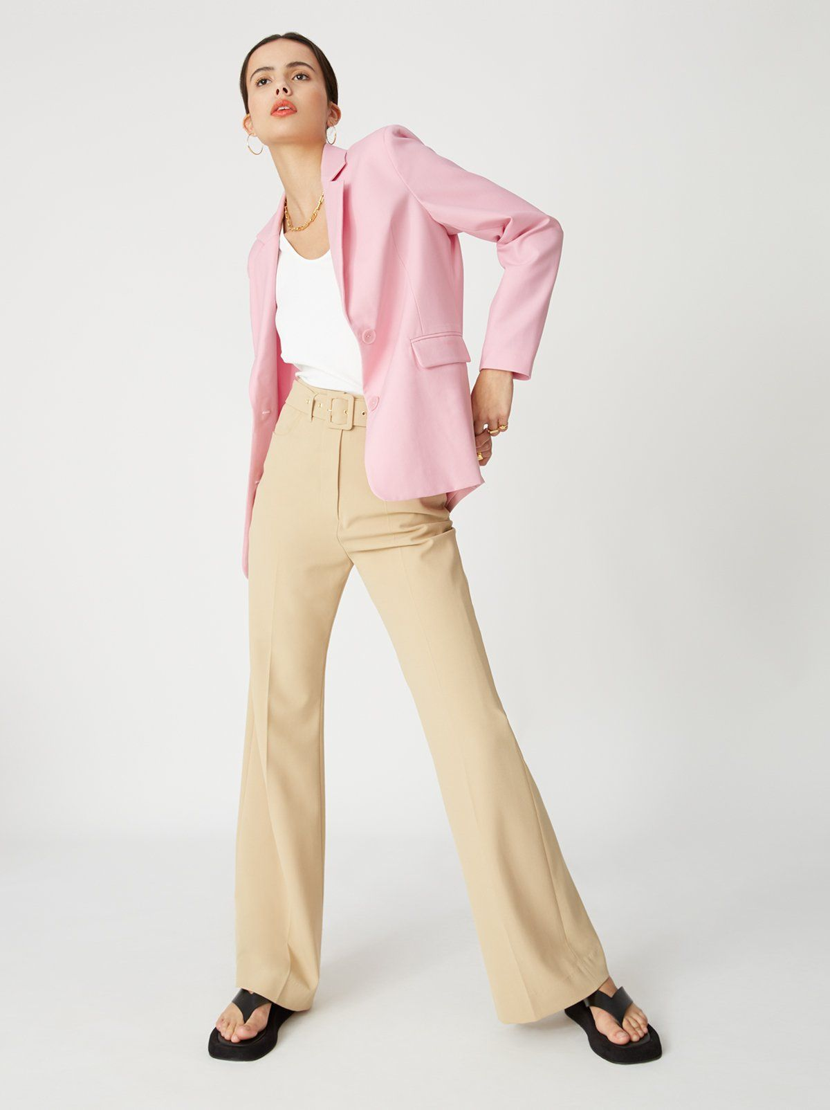 Laurie Pink Oversized Tailored Blazer | Women's Oversized Blazers | KITRI