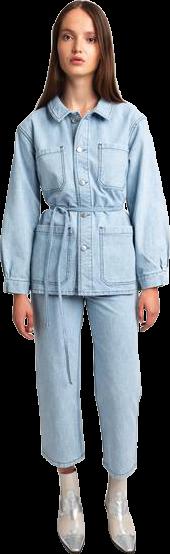 vic workwear denim jacket light blue