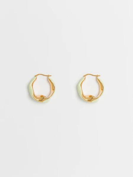 aeyde | LINDA | women's gold pistachio earrings – aeydē