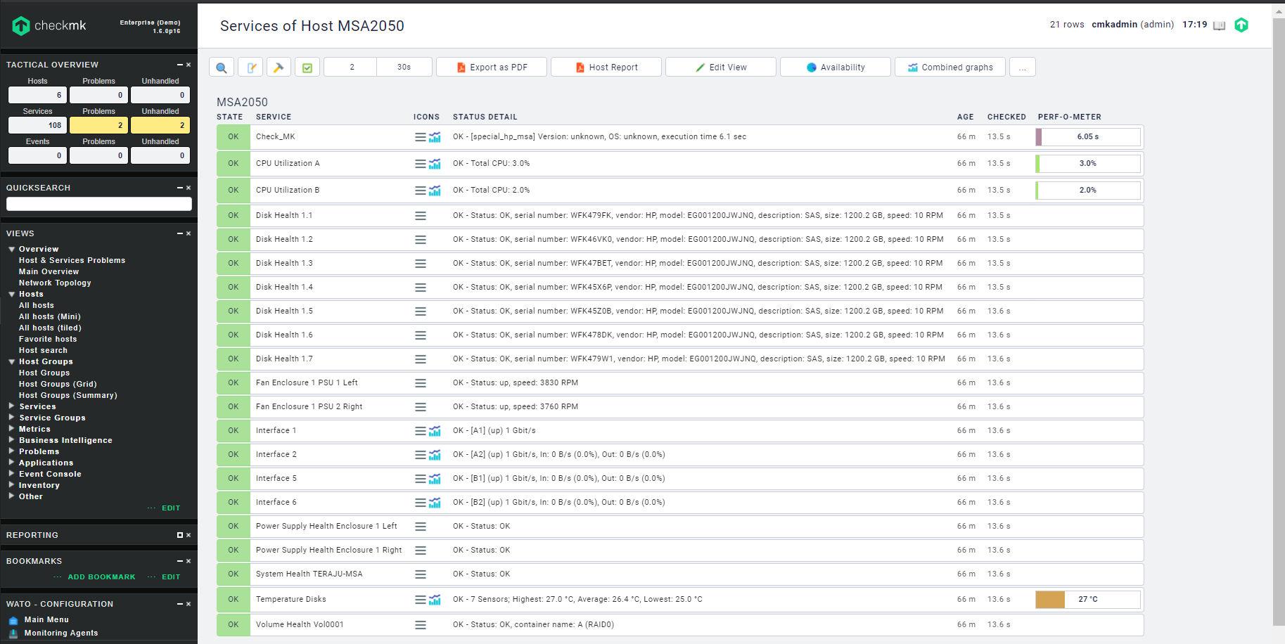 Monitor HPE MSA Storage with CheckMK