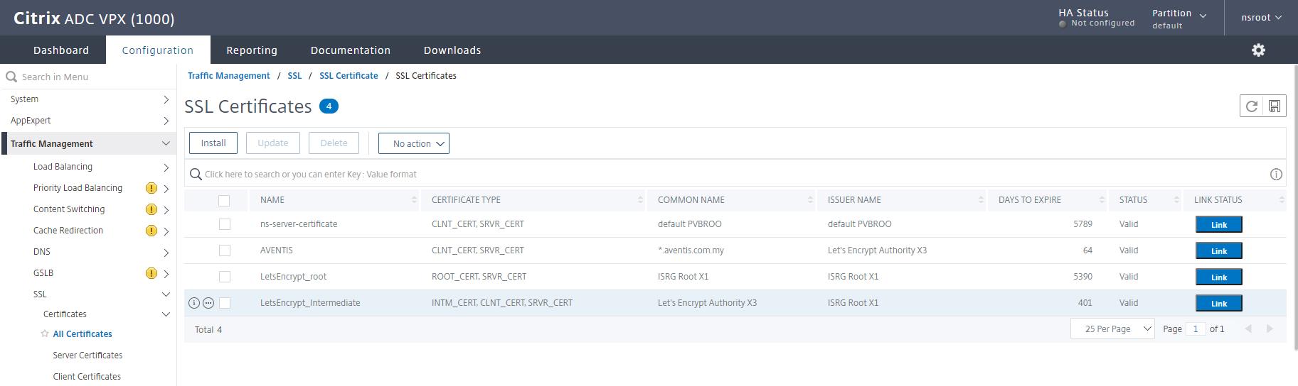 import pfx certificate to netscaler vpx