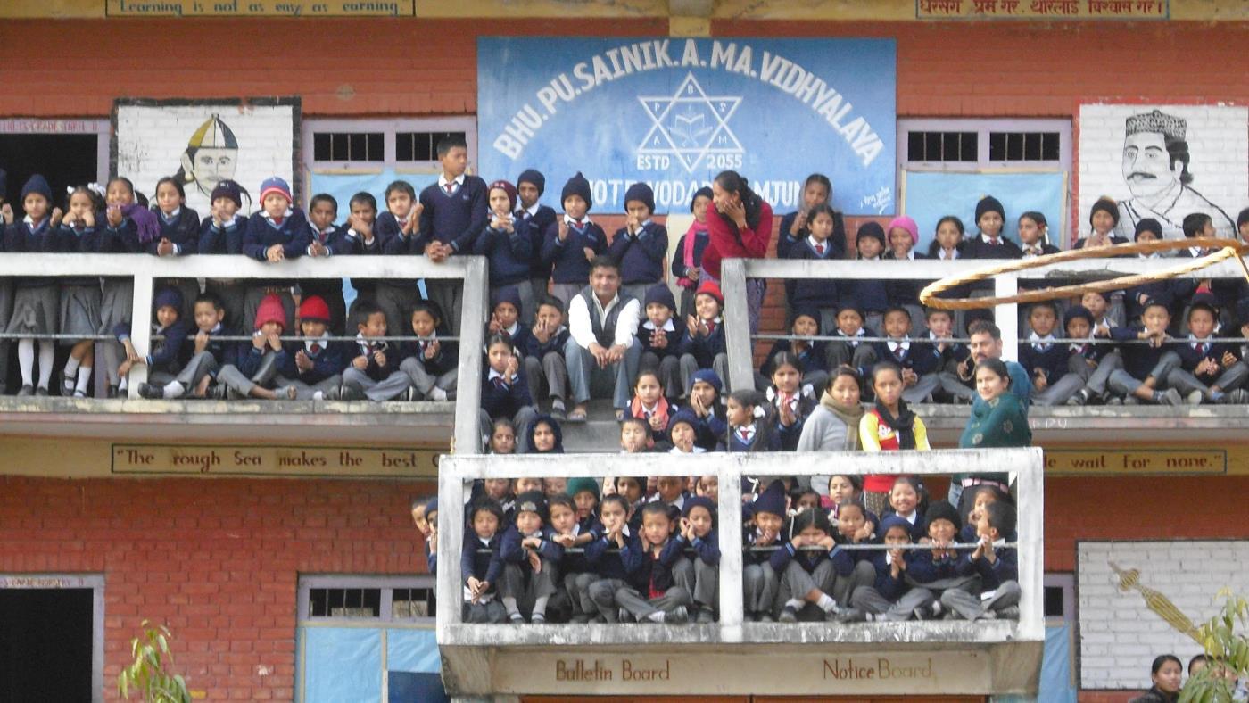 A school day in Nepal
