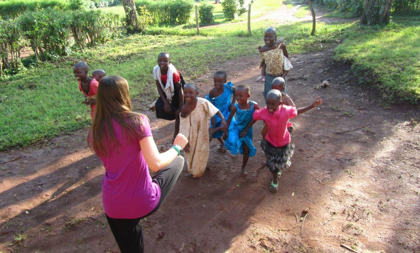Games with children - Gap Year Uganda