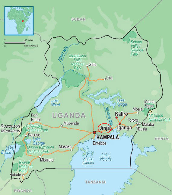 Map of Uganda