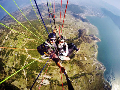 Paragliding, one of the things to do on a Gap Year in Nepal