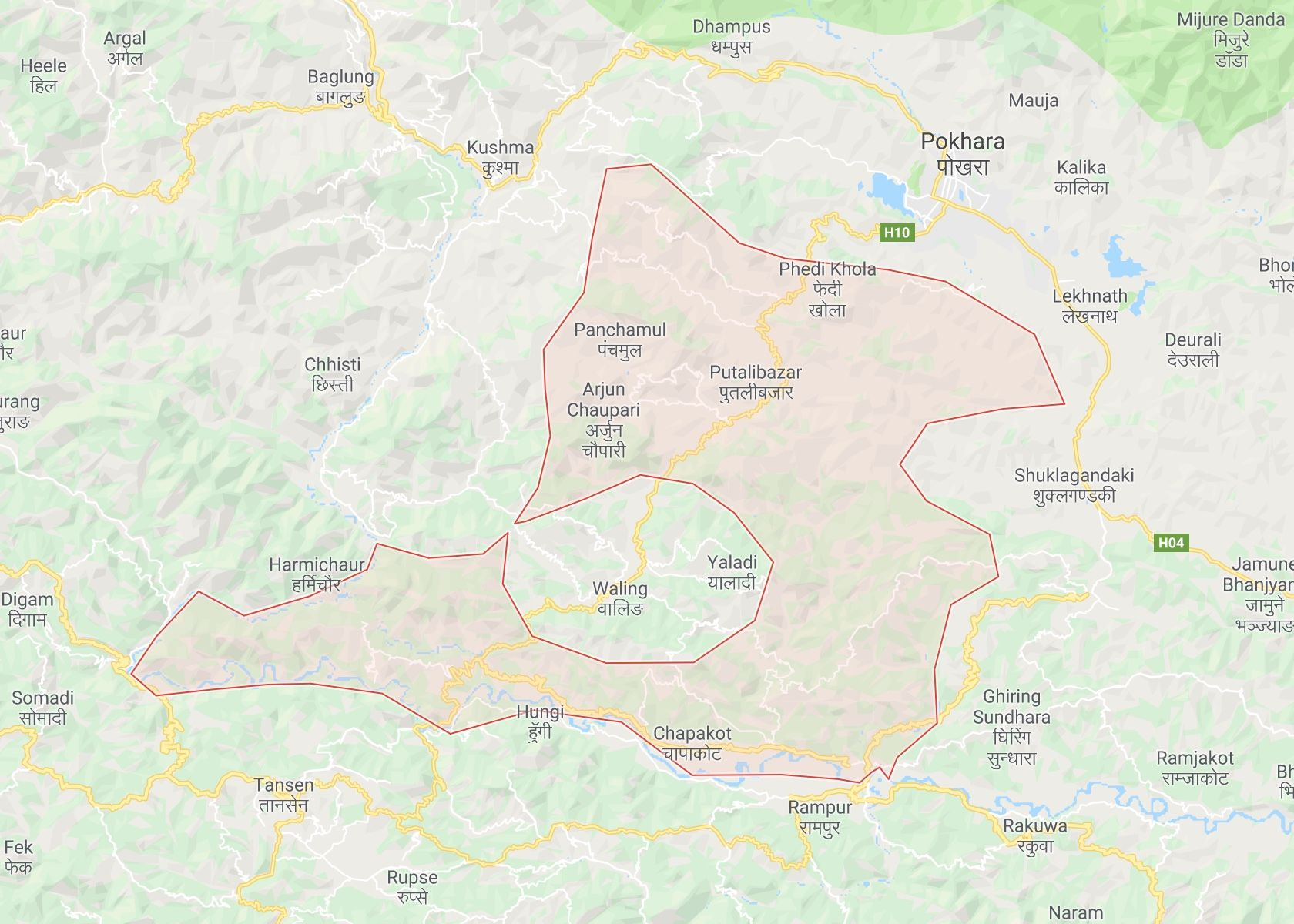 Syangja, Nepal Map