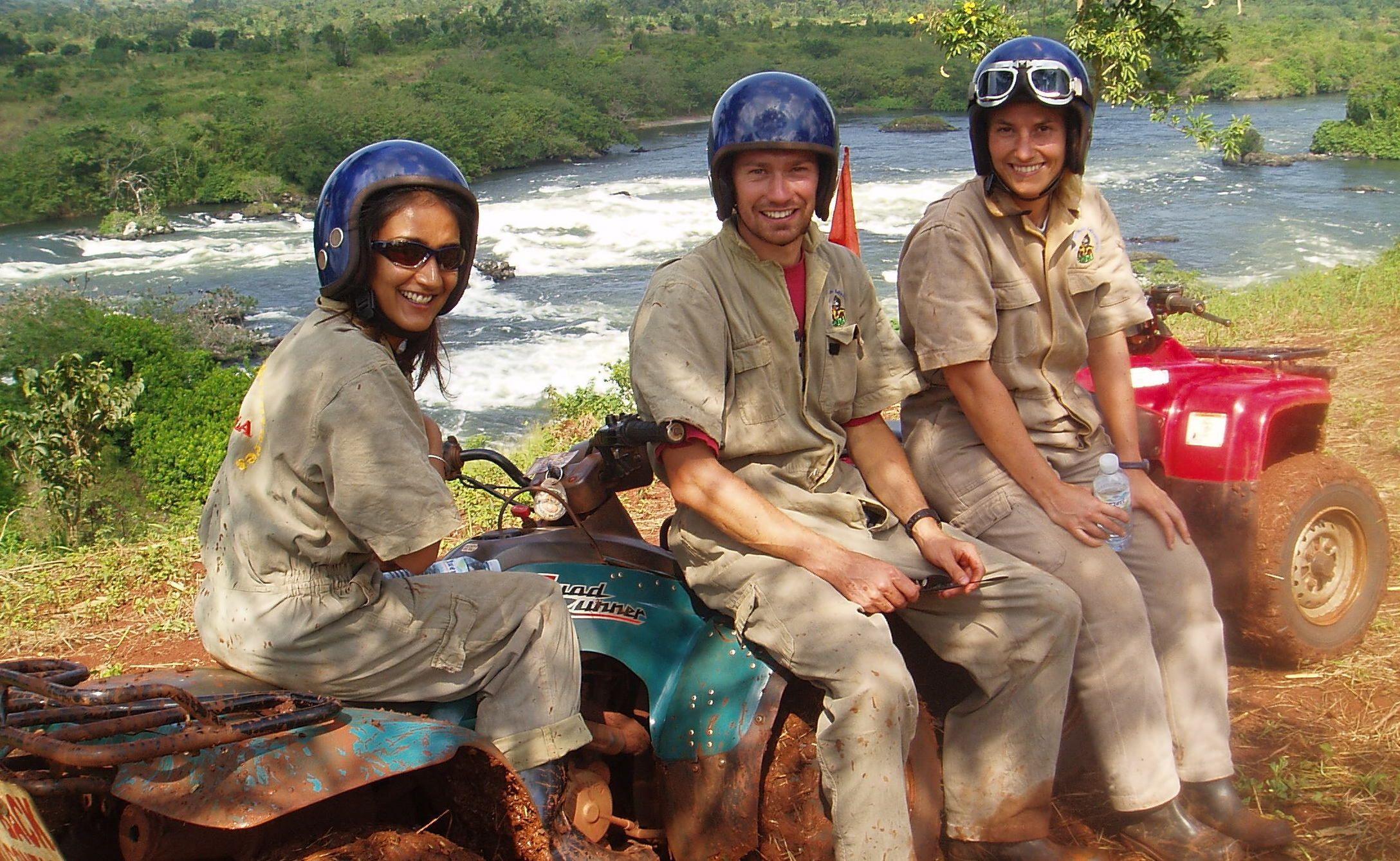 Quad biking in Uganda