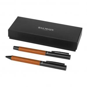 Woodgrain Duo Metal Pen Set Office Supplies Pen & Pencils Stationery Sets FPM6042BBK-1