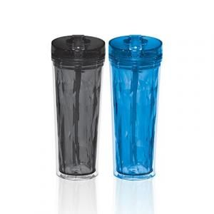 Hot & Cold Flip & Sip Geometric Tumbler 18oz Household Products Drinkwares Best Deals HDT6010GRP_thumb
