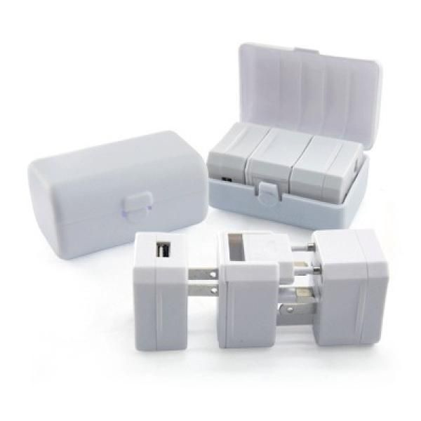 Travel Adaptor With USB Hub And Case Electronics & Technology Gadget Productview2863