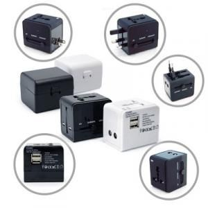 Worldwide Travel Adaptor With 2 USB Hub and Case Electronics & Technology Gadget Largeprod1041