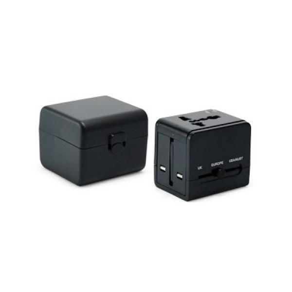 Worldwide Travel Adaptor With 2 USB Hub and Case Electronics & Technology Gadget Productview11041