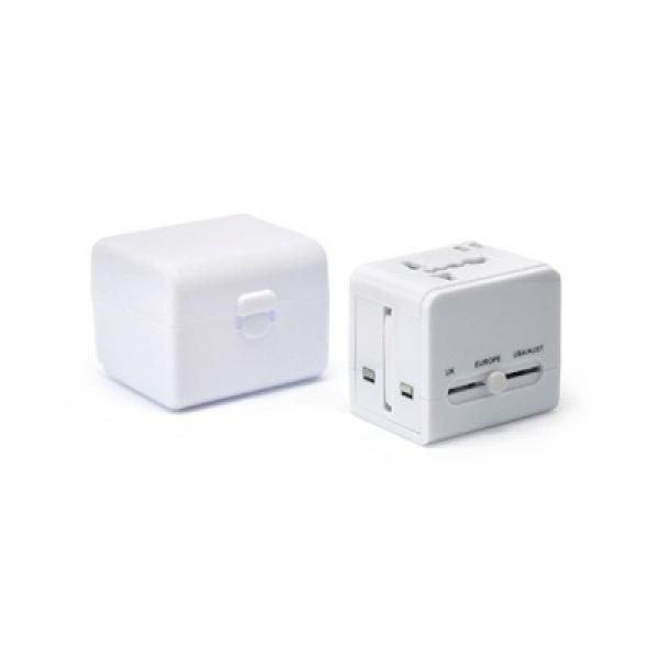 Worldwide Travel Adaptor With 2 USB Hub and Case Electronics & Technology Gadget Productview21041