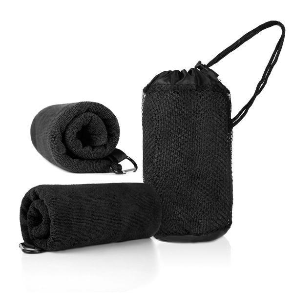Qvosoft Microfibre Towel Towels & Textiles Towels WSP1005_BlackHD