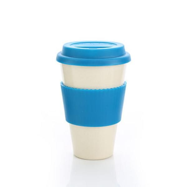 Bamboo Fibre Mug with Lid & Sleeve Household Products Drinkwares AA3
