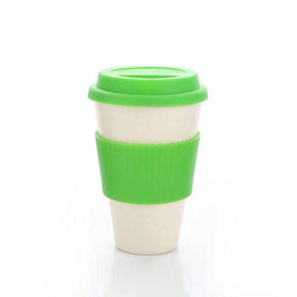 Bamboo Fibre Mug with Lid & Sleeve Household Products Drinkwares AA4
