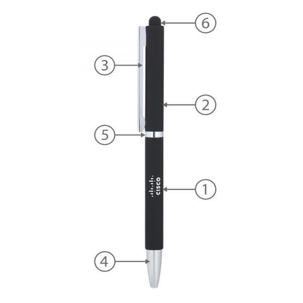 BND71XLS Metal Stylus Office Supplies Pen & Pencils FPM1055-BLK-1