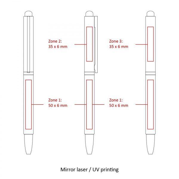 BND71XLS Metal Stylus Office Supplies Pen & Pencils FPM1055-BLK-5